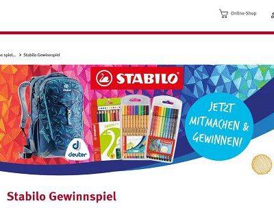Rossmann Stabilo Gewinnspiel Deuter Schulrucksäcke und Stiftesets