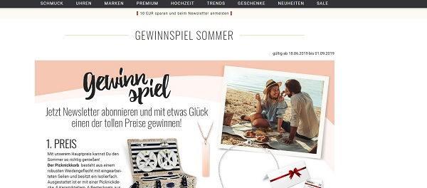 The Jeweller Gewinnspiel Sommer 2019 Picknick Set und Schmuck gewinnen