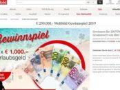 Urlaubsgeld Gewinnspiel Weltbild Verlag 2 mal 1.000 Euro Bargeld