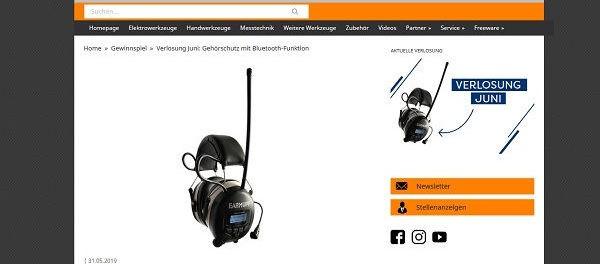 Werkzeugforum Juni Gewinnspiel Gehörschutz mit Bluetooth