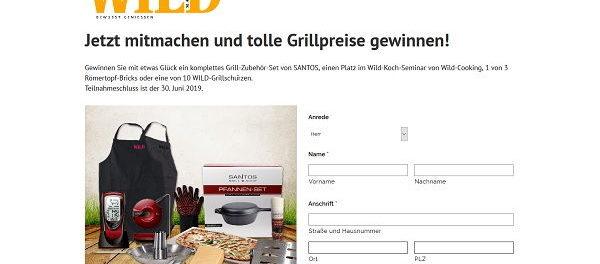 Wild Magazin Gewinnspiel Kochkurs und weitere Sachpreise