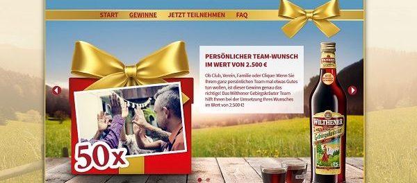 Wilthener Gebirgskräuter Gewinnspiel 50 Wunscherfüllungen zu 2.500 Euro