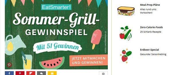 eatsmarter Sommer-Grill-Gewinnspiel Kenwood Chef XL Sense Special Edition Küchenmaschinen