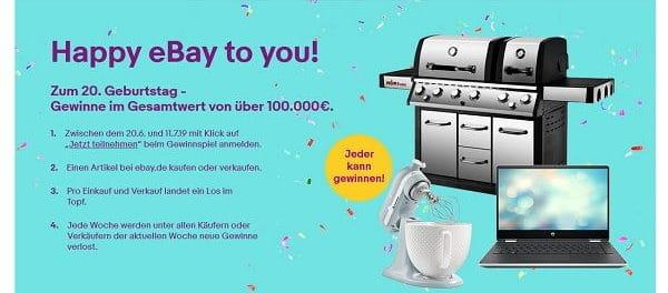 ebay Gewinnspiel Preise im Wert von 100.000 Euro gewinnen
