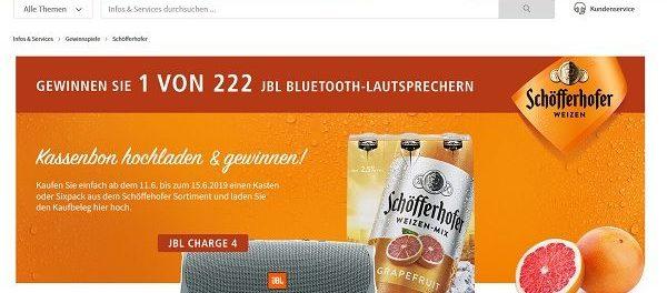 real Gewinnspiel Schöfferhofer verlost 222 JBL Bluetooth-Lautsprecher