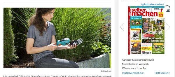 selber machen Gewinnspiel Gardena Akku-Grasschere