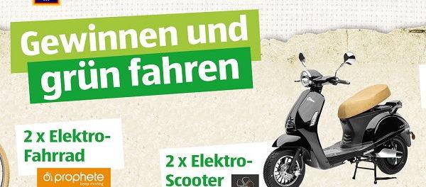 Aldi Süd Gewinnspiel Elektroscooter und E-Bikes