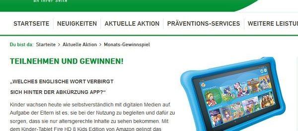 Alphega Apotheken Gewinnspiel Kinder Tablet Fire HD von Amazon