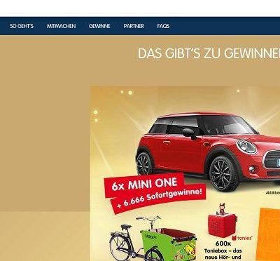Auto-Gewinnnspiel Haribo Goldbären 6 Mini One und Sofortgewinne
