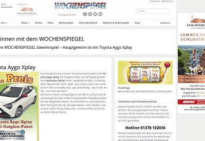 Auto Gewinnspiel Wochenspiegel Toyota Aygo Xplay