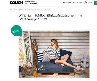 Couch Magazin Gewinnspiel Tchibo Einkaufsgutscheine gewinnen