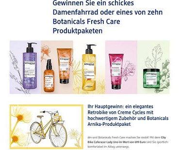 DM Gewinnspiel Damenfahrrad und Botanicals Arnika-Produktpaket
