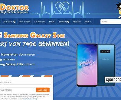 DealDoktor Gewinnspiel Samsung Galaxy S10E Smartphone