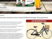 Eichbaum Bier Gewinnspiel Nostalgie Fahrrad Verlosung