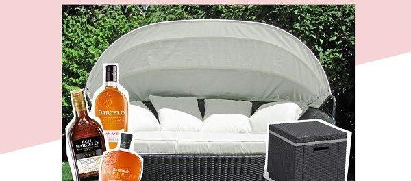 Glamour Gewinnspiel Outdoor-Bett und Getränkekühler
