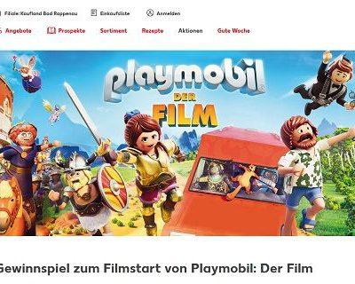 Kaufland Reise-Gewinnspiel Playmobil Filmstart AIDA Kreuzfahrt