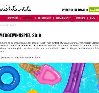 Kribbelbunt Sommergewinnspiel 2019 jeden Tag gewinnen