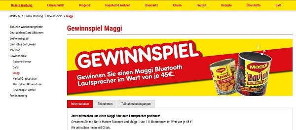 Maggi Gewinnspiel Netto Marken Discount Bluetooth Lautsprecher