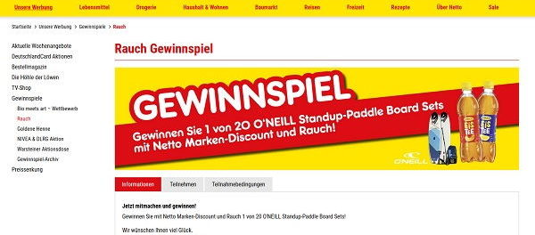 Netto Marken-Discount Gewinnspiele 20 Standup-Paddle Board Sets