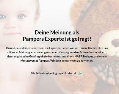 Pampers Gewinnspiel HABA Holzeisenbahn für Kinder