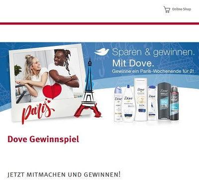 Paris Wochenendreise Gewinnspiel Rossmann und Dove