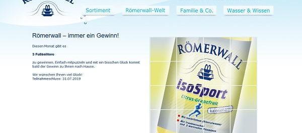 Römerwall Gewinnspiel Juli Aktion Fussballtore Verlosung