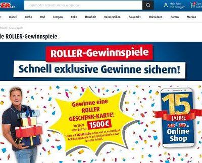 Roller-Gewinnspiel 15 Jahre Möbel Onlineshop Geburtstag
