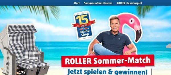 Roller Möbelmärkte Sommer-Match Gewinnspiel jede Woche Geschenk-Karten