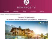 Romance TV Gewinnspiel Aufenthalt Genießerhotel die Riederalm Leogang
