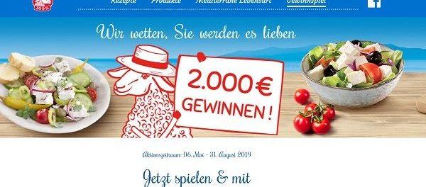 Salakis Sommer Gewinnspiel 2.000 Euro Bargeld gewinnen
