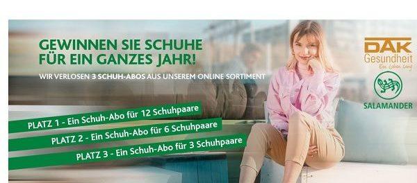 buy online b682e 4aa32 Salamander Schuhe Gewinnspiel Schuh-Flatrates gewinnen