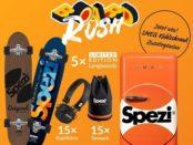Spezi Gewinnspiel SMEG Kühlschrank Skateboards und Kopfhörer