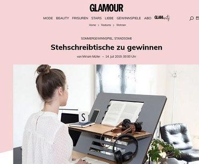 Stehschreibtische Gewinnspiel Glamour Magazin