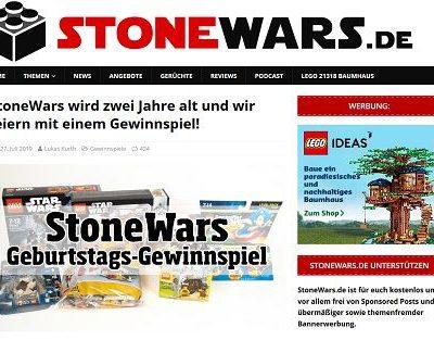 Stonewars Gewinnspiel verlost mehrere Lego Sets