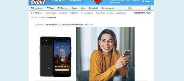 TV direkt Gewinnspiel Google Pixel Smartphone