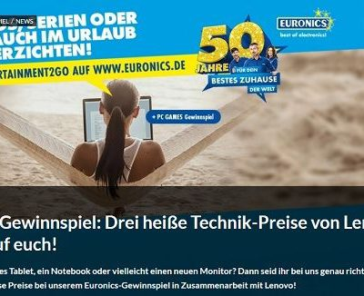 Technik Gewinnspiel Euronics und PC Games Lenovo Tablet