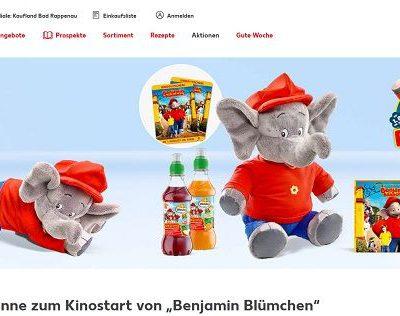 Valensina und Kaufland Gewinnspiel Benjamin Blümchen Kinovorstellung
