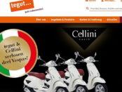 Vespa Motorroller Gewinnspiel Cellini und tegut