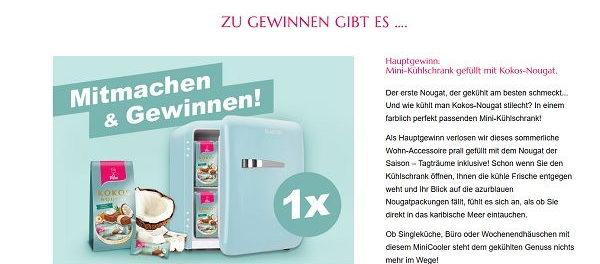 Viba Sweet Gewinnspiel Mini-Kühlschrank und Produktpakete