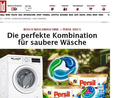 Waschmaschinen Gewinnspiel Bild.de und Persil