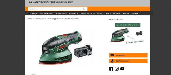 Werkzeugforum Gewinnspiel Juli Bosch Akku-Multischleifer