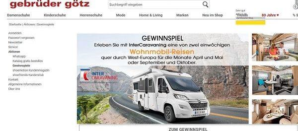 Wohnmobil Urlaub Gewinnspiel Gebrüder Götz 2 Reisen gewinnen
