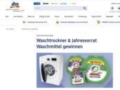 dm Drogerie Gewinnspiel Samsung Waschtrockner gewinnen