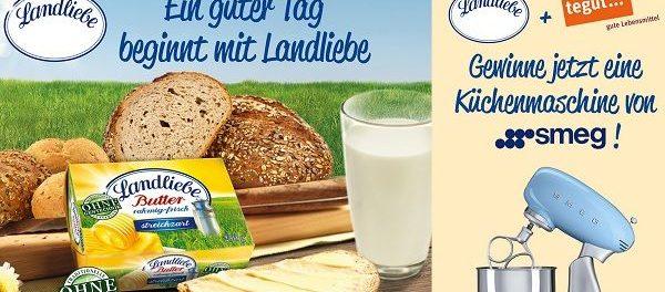 tegut Gewinnspiel Landliebe verlost SMEG Küchenmaschine