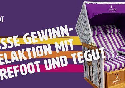 tegut und Barefoot Gewinnspiel Strandkorb Preisausschreiben