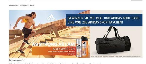 Adidas und real Gewinnspiel 200 Sporttaschen