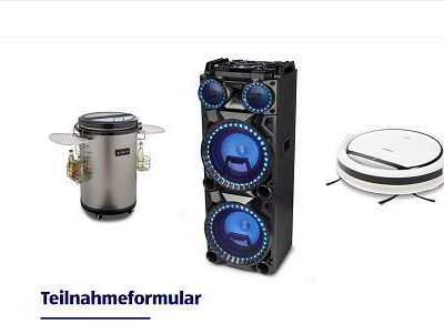 Aldi Süd Gewinnspiel Saugroboter Boombox und Party-Kühlschrank
