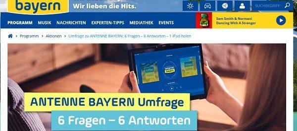 Antenne Bayern Gewinnspiel Apple iPad gewinnen
