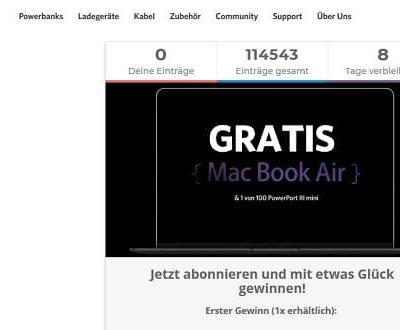 Macbook Air Gewinnspiel