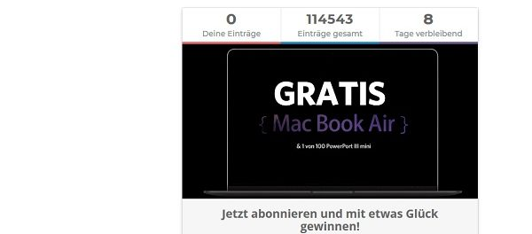 Apple MacBook Air Gewinnspiel bei Anker